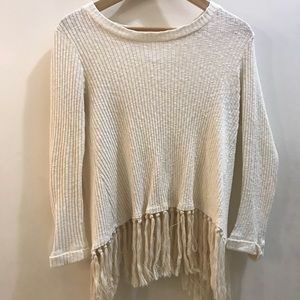 Fringe Sweater Shirt